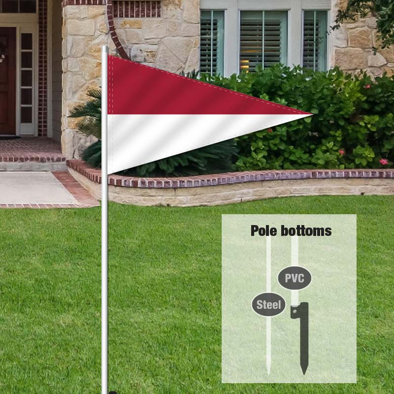 Independent Real Estate Pennant Flag-MARNWHTE_FLG_7