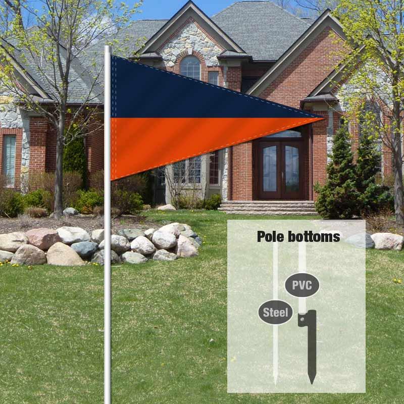 Independent Real Estate Pennant Flag-NAVYORNG_FLG_7