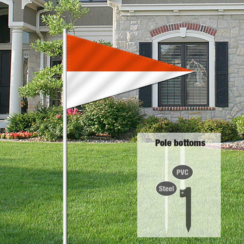 Independent Real Estate Pennant Flag-ORNGWHTE_FLG_7