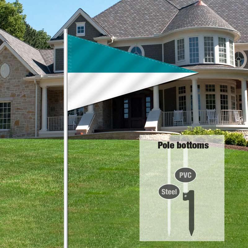 Independent Real Estate Pennant Flag-TEALWHTE_FLG_7