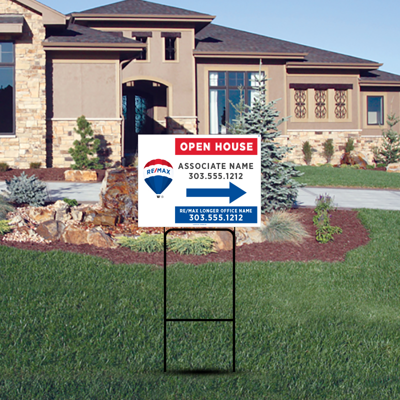 REMAX Open House & Directional Signs-H30H_12X18_187