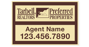 Tarbell, Realtors Sign Panels Only - Agent-12X18_PRPD_AGT_157