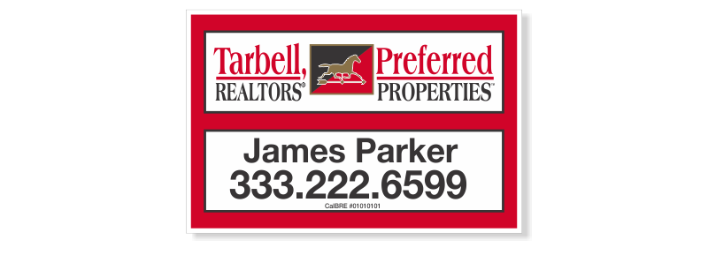 Tarbell, Realtors Sign Panels Only - Agent-12X18_PRP_AGT_157