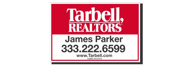 Tarbell, Realtors Sign Panels Only - Agent-12X18_STD_AGT_157