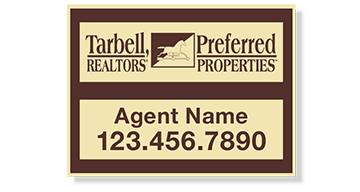 Tarbell, Realtors Sign Panels Only - Agent-18X24_PRPD_AGT_157