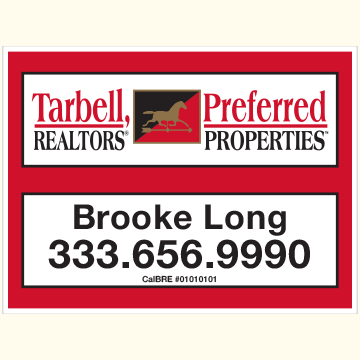 Tarbell, Realtors Sign Panels Only - Agent-18X24_PRP_AGT_157