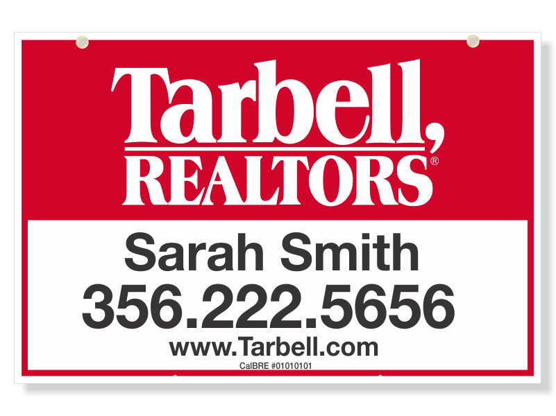 Tarbell, Realtors Sign Panels Only - Agent-24X36_STD_AGT_157
