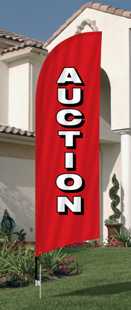 Auction Feather Flag