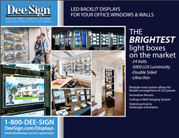 Backlit Window Displays for Real Estate Catalog 2018