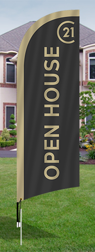 Century 21<br/>Open House Feather Flags for sale /feather flag signs