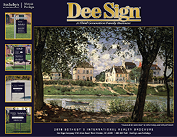 DeeSign Sotheby's International Realty Sign Catalog 2018