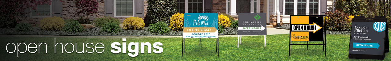 open house signs / directional signs