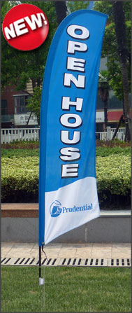 Prudential<br/>Open House Feather Flags for sale /feather flag signs