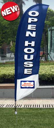 Realty Executives<br/>Open House Feather Flags for sale /feather flag signs