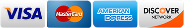 accepted credit cards are Visa, Master Card, Discover, and American Express