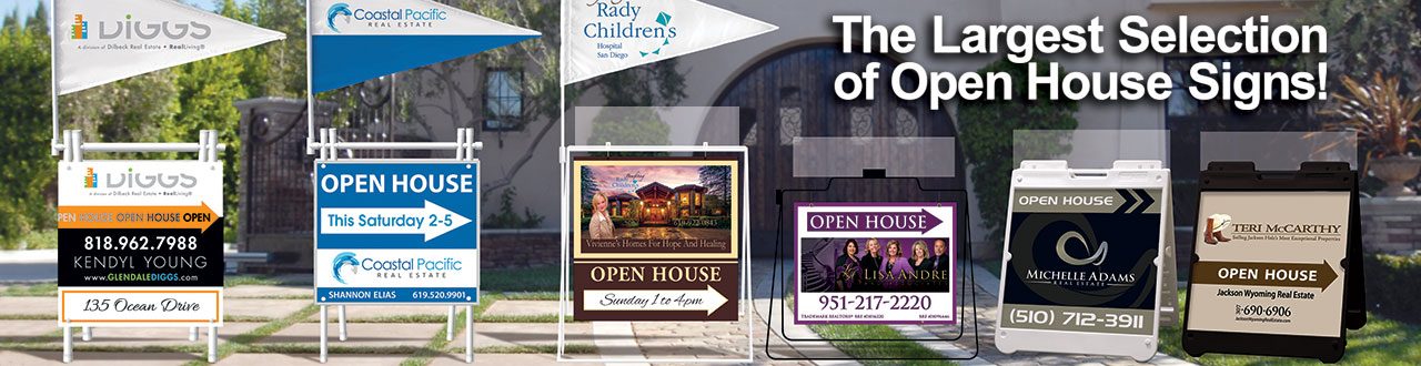 Real Estate Signs Open House Signs For Sale Signs By Dee Sign California