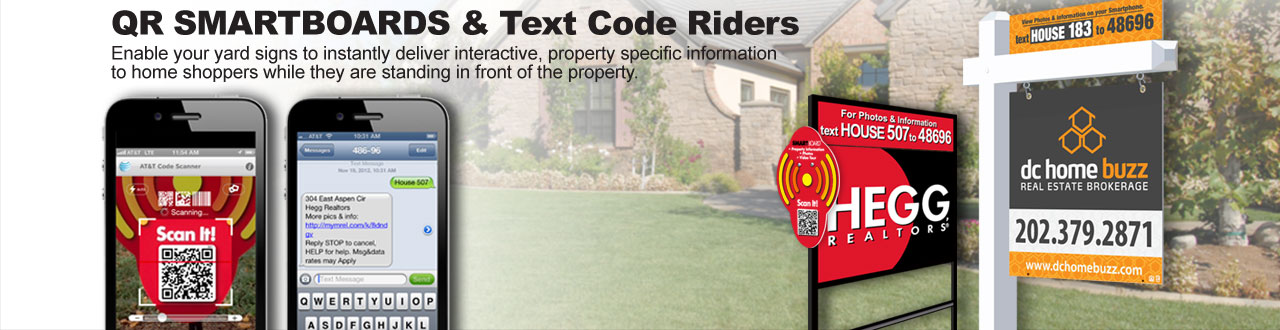 QR Smartboards & Text Code Riders
