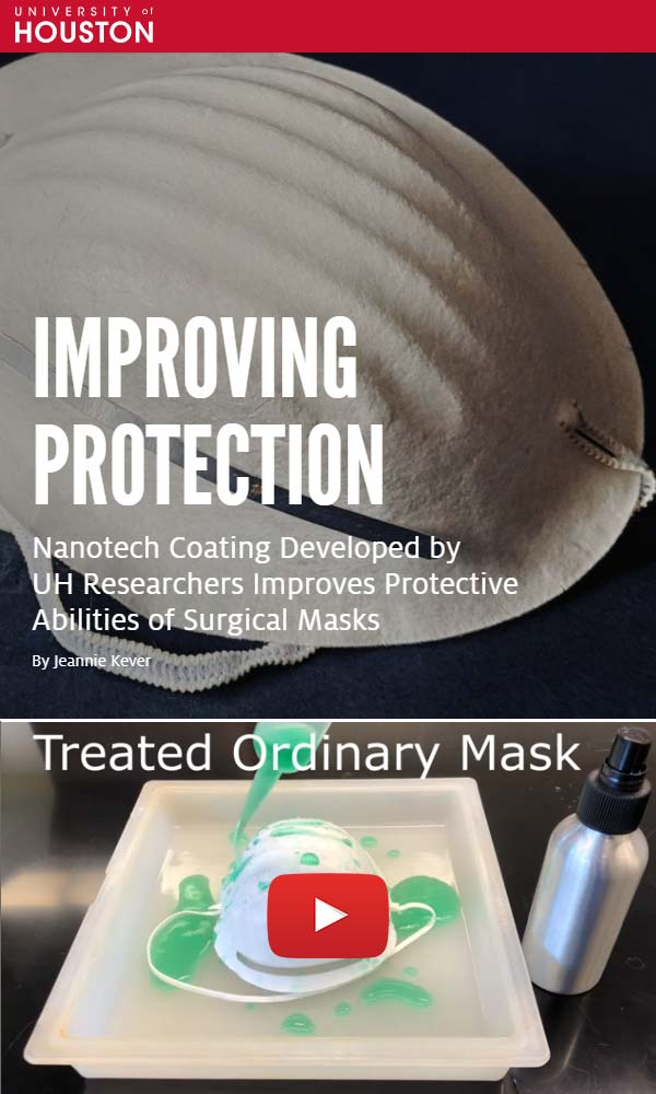 2020 Covid mask coating (University of Houston)