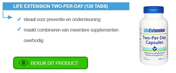 "Een introductie tot ""Two-Per-Day"" van Life Extension"