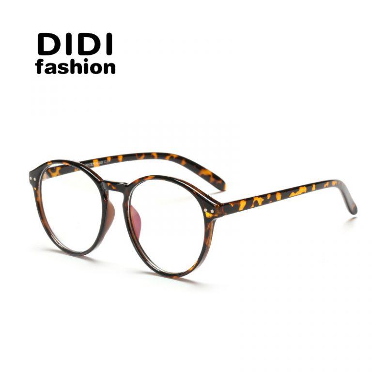 DIDI Round Plastic Leopard Glasses Frame Vintage Spectacle Frames ...