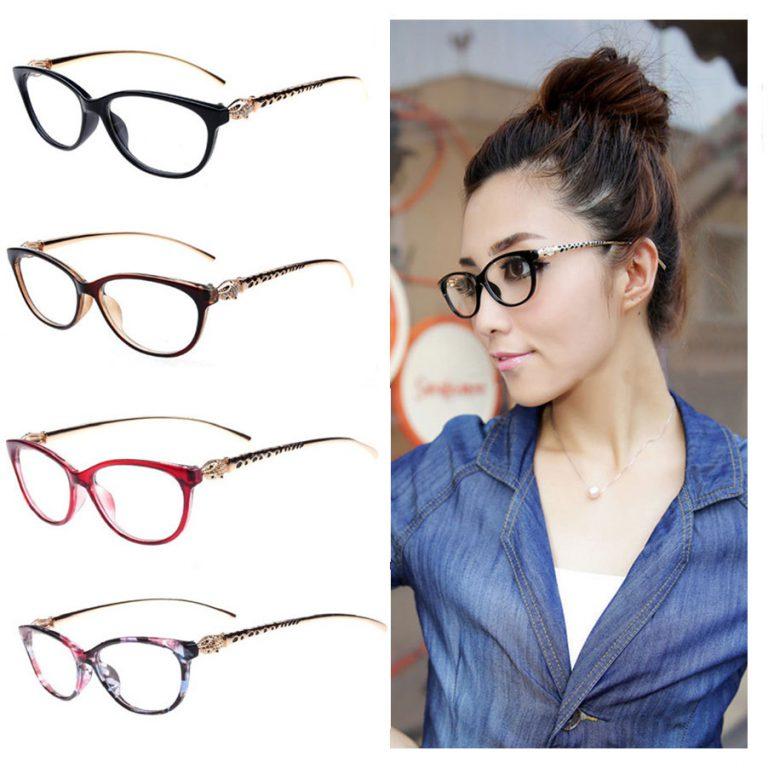 8 Colors 2017 Fashion Cheetah Earstems Glasses frames Women Ladies ...