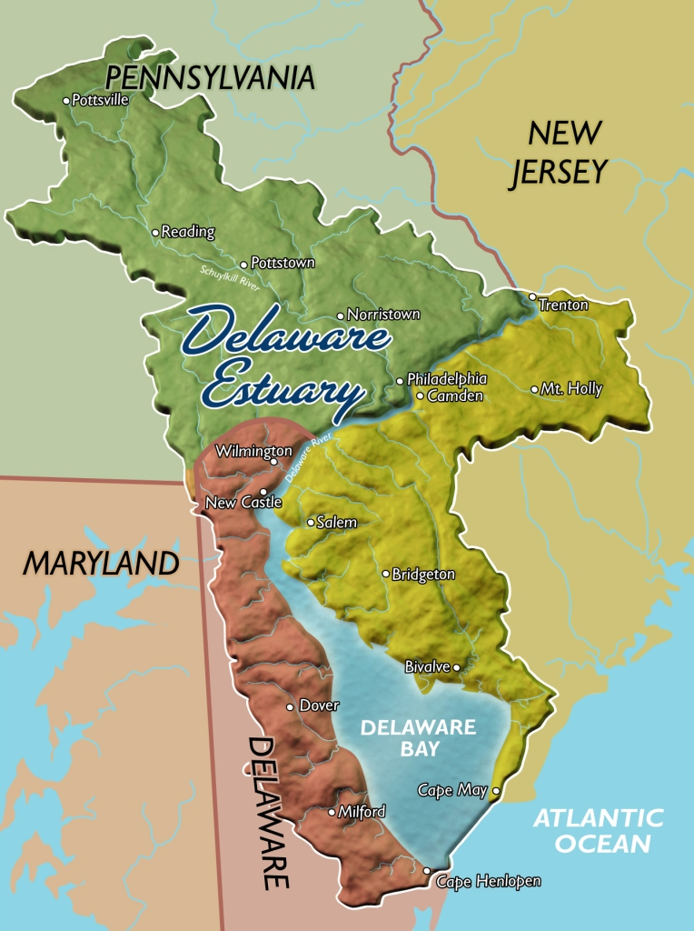 Map of the Delaware Estuary Watershed