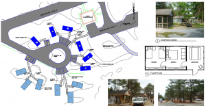 New cabins at Cape Henlopen state Park layout.