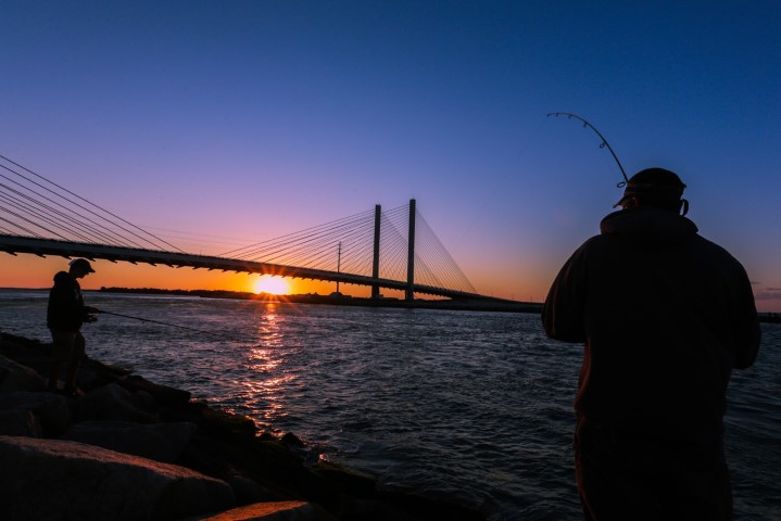 kevin jones photography, indianriver inlet, fishing the jetty, sunset in delaware,