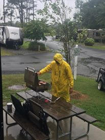 hermine, cookinginthe rain, camping in a hurricane, delaware, milford, sussex county, castaways resort