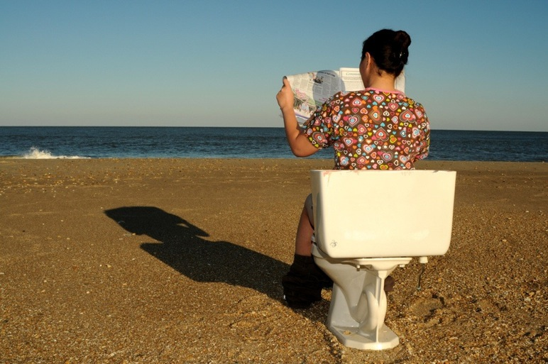 toilet on beach, rehoboth beach, wastewateroutfall project, delaware, sussex county, water treatment facilities, atesian water, tidewater,