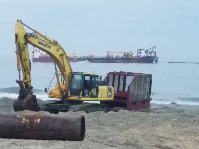 Rehoboth Beach Replenishment Project, delaware, sussex county, bethany beach, dewey beach, cape henlopen state park, striped bass, fall run, rockfish, shore break dangerous, surf rider foundation