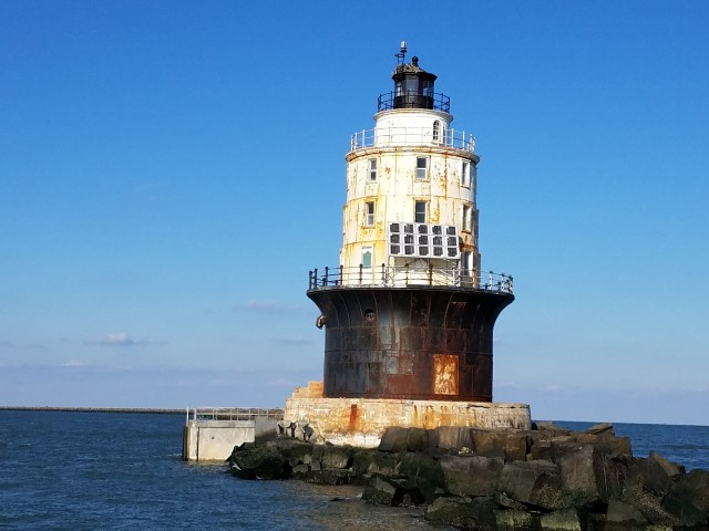 Harbor of Refuge Lighthouse, lewes, delaware, delaware bay, harbor of safe refuge,