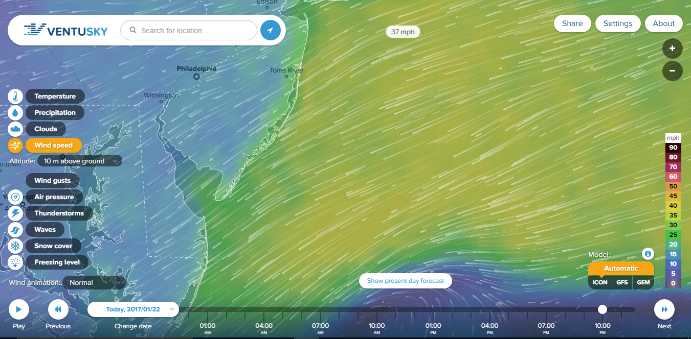 wind in real time, ventusky, inmeteo, delaware, sussex county