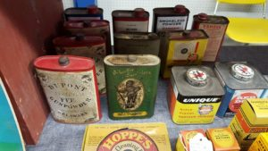 Collectible gun powder tins, delaware, sussex county, milford collectible show