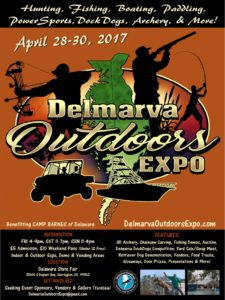 Delmarva Outdoor Expo, state fairgrounds, harrington, delaware, camping, hunting, fishing, hikning, biking, cooking, four wheeling, archery, guns, knives, fishing tackle, kayaking, stand up paddleboard, SUP, kent county, boating, jet skiing, bird watching,