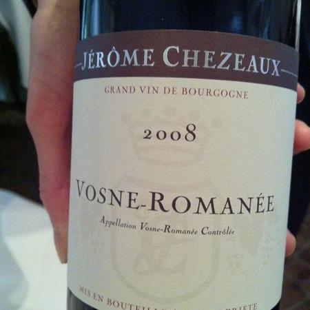 Jérôme Chezeaux Vosne-Romanée Pinot Noir 2014