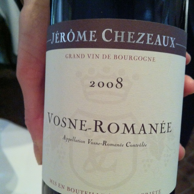 Vosne-Romanée Pinot Noir 2013