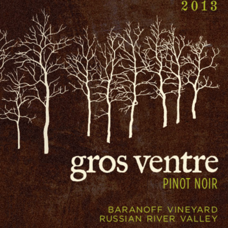 Gros Ventre Cellars Baranoff Vineyard Pinot Noir 2013