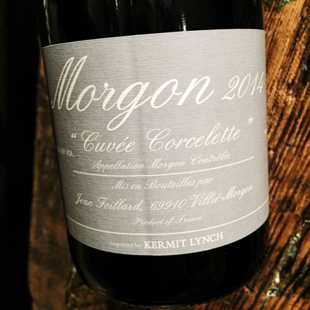 "Jean Foillard ""Cuvée Corcelette"" Morgon Gamay 2014"