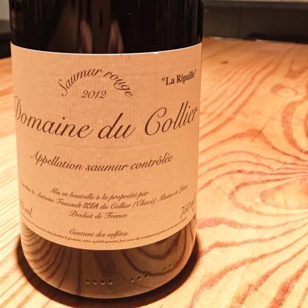 """Domaine du Collier """"La Ripaille"""" Saumur Rouge Cabernet Franc 2012"""