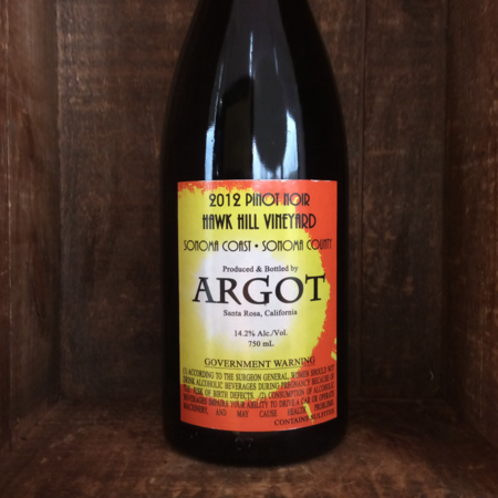 Argot Wines Hawk Hill Vineyard Pinot Noir 2012