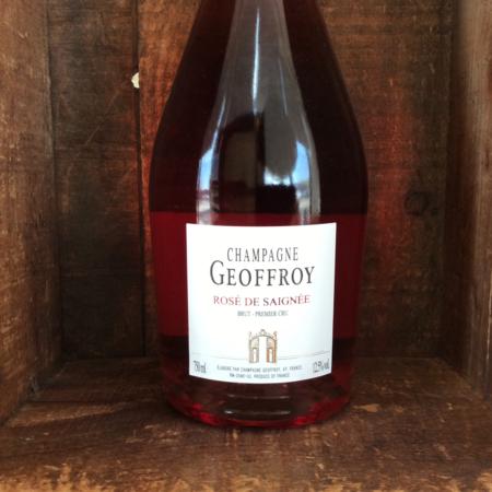 René Geoffroy Rosé De Saignée 1er Cru Brut Champagne Pinot Meunier Pinot Noir NV