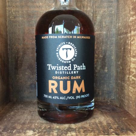 Twisted Path Distillery Organic Dark Rum NV