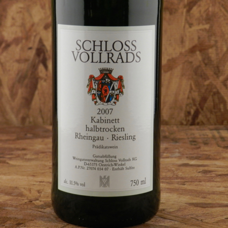 Schloss Vollrads  Kabinett halbtrocken Riesling 2007