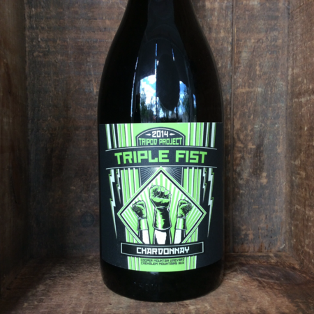 Tripod Project Triple Fist Cooper Mountain Vineyard Chardonnay 2014