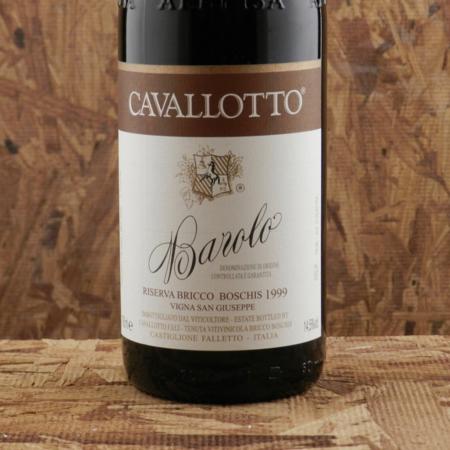 Cavallotto Vigna San Giuseppe Riserva Bricco Boschis Barolo Nebbiolo 1999