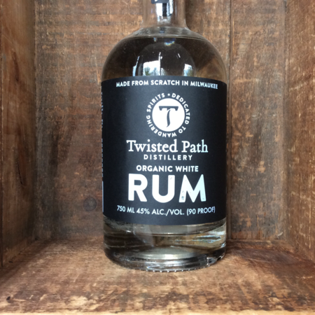 Twisted Path Distillery Organic White Rum NV