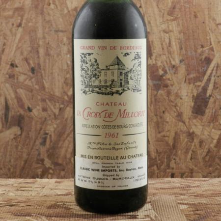 Château La Croix de Millorit Côtes de Bourg Red Bordeaux Blend 1961