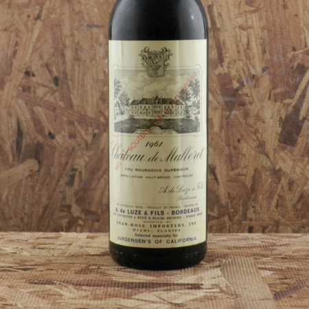 Château de Malleret Cru Bourgeois Superieur Haut-Médoc Red Bordeaux Blend 1961