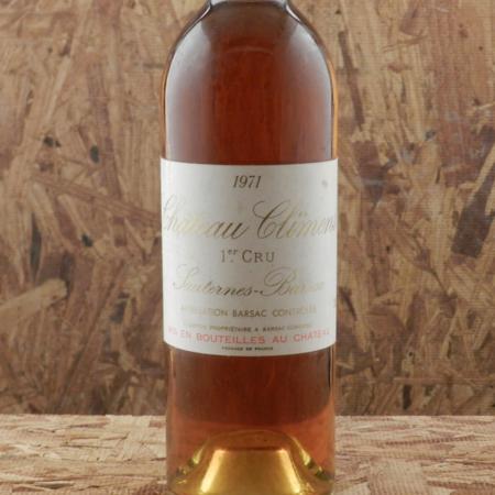 Château Climens Sauternes-Barsac Sémillon-Sauvignon Blanc Blend 1971